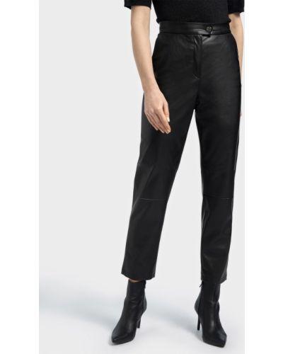 Кожаные брюки - черные Basler