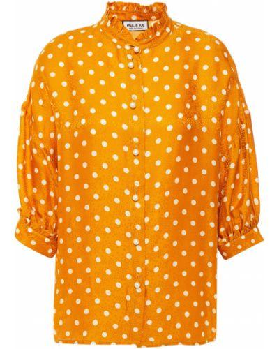 Шелковая блузка с жемчугом Paul & Joe
