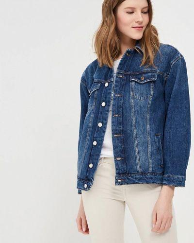 Джинсовая куртка весенняя синий Motivi