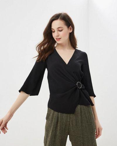 Черная блузка с длинным рукавом River Island