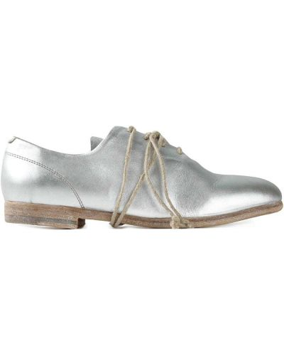 Кожаные туфли круглые на каблуке The Last Conspiracy