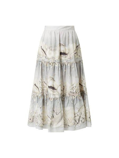 Bawełna beżowy spódnica z zamkiem błyskawicznym z kieszeniami Weekend Max Mara