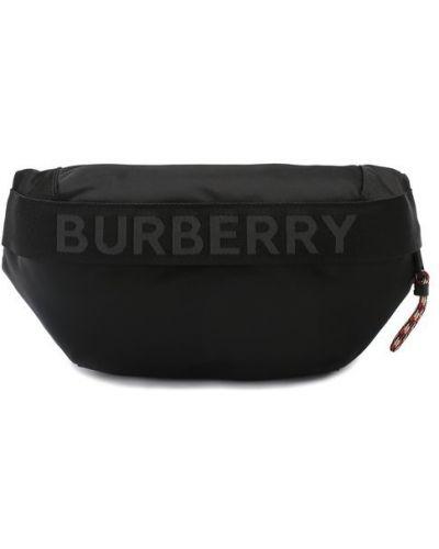 Поясная сумка текстильная черная Burberry