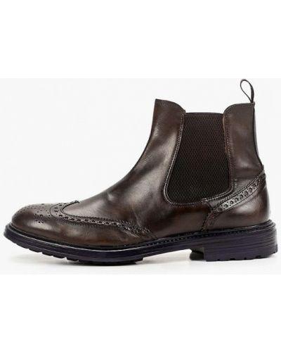 Коричневые кожаные ботинки челси F.lli Rennella