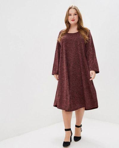 Платье бордовый весеннее Prewoman