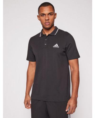 Czarne polo Adidas