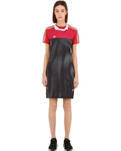 Платье мини сетчатое пэчворк Adidas Originals By Alexander Wang