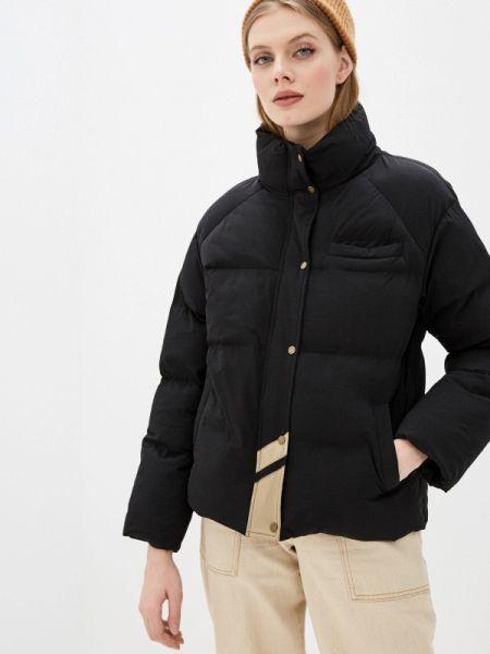 Теплая черная утепленная куртка On Parle De Vous