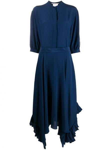 Платье миди на пуговицах - синее Stella Mccartney