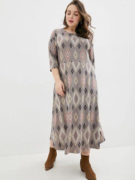 Серое повседневное платье Gorda Bella