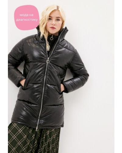 Черная кожаная куртка Goldrai