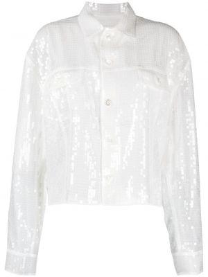 Белый классический пиджак с воротником с пайетками Junya Watanabe