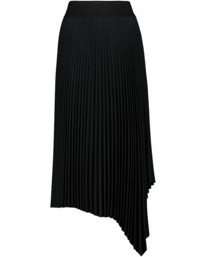 Плиссированная черная юбка миди Joseph