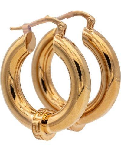 Повседневные серьги-гвоздики золотые Versace