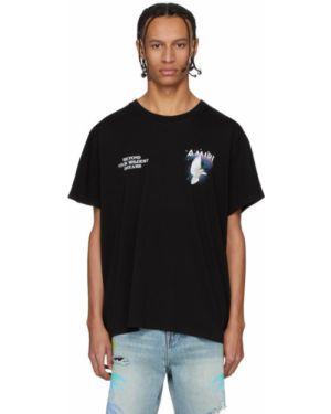 Koszula krótkie z krótkim rękawem z kołnierzem z nadrukiem Amiri
