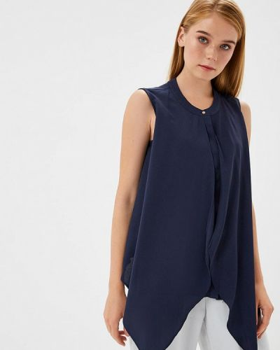 Синяя блузка без рукавов Adl