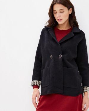 Утепленная куртка демисезонная черная Miss Gabby