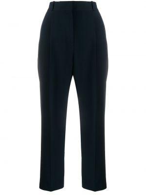Синие укороченные брюки со складками с воротником с высокой посадкой See By Chloé