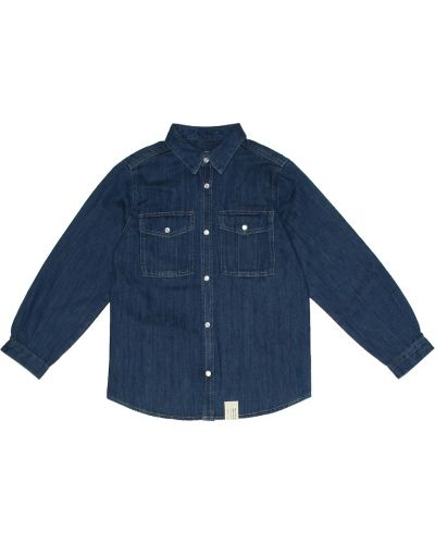 Джинсовая рубашка классическая Bonpoint