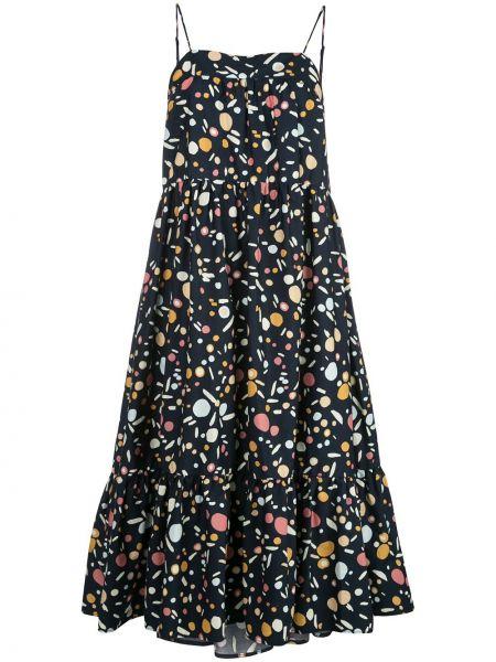 Sukienka midi bawełniana - niebieska Simon Miller