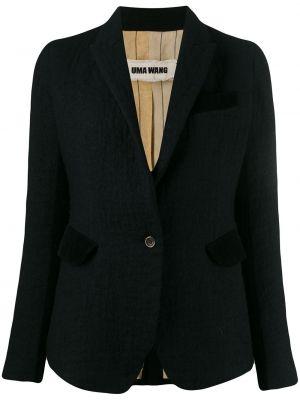 Черная куртка на пуговицах узкого кроя с подкладкой Uma Wang