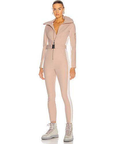Розовый кожаный костюм в полоску Cordova
