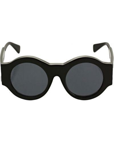 Czarne okulary srebrne Kuboraum Berlin