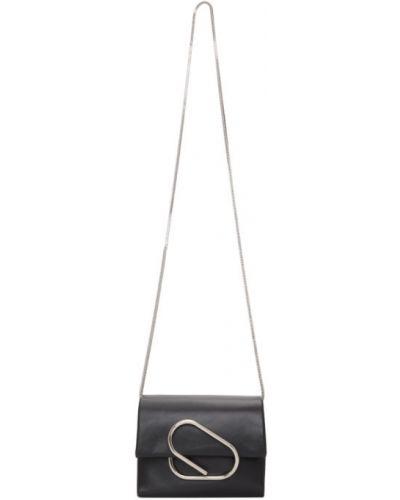 Włókienniczy czarny torba kosmetyczna z łatami z kieszeniami 3.1 Phillip Lim