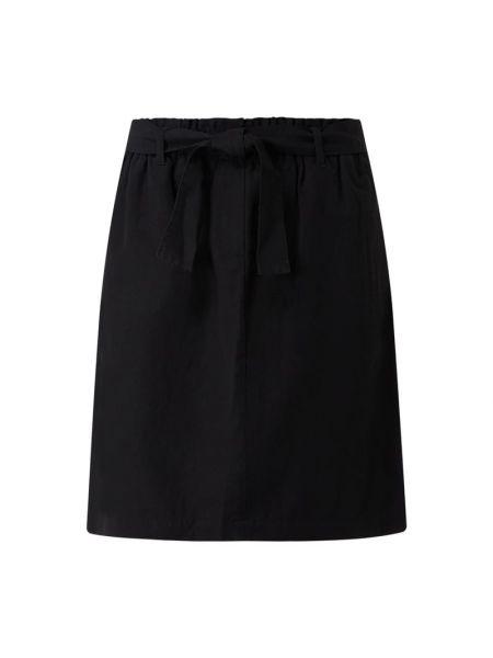 Niebieska spódnica mini rozkloszowana z paskiem Marc O'polo