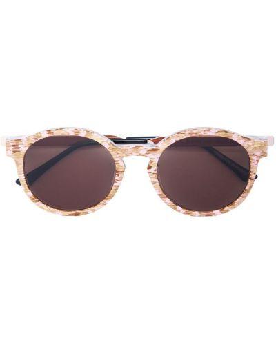 Муслиновые розовые солнцезащитные очки круглые Thierry Lasry