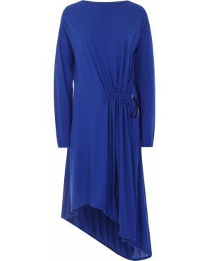 Шерстяное платье макси - синее Roque