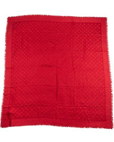 Czerwona szal Louis Vuitton Vintage