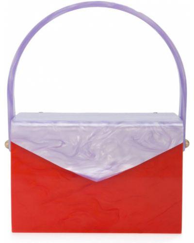 Красная сумка Edie Parker