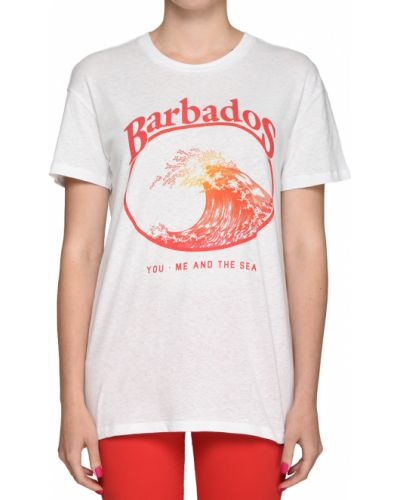 Хлопковая футболка - белая Zoe Karssen
