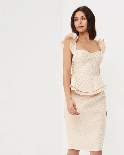 Платье весеннее бежевое Mirasezar
