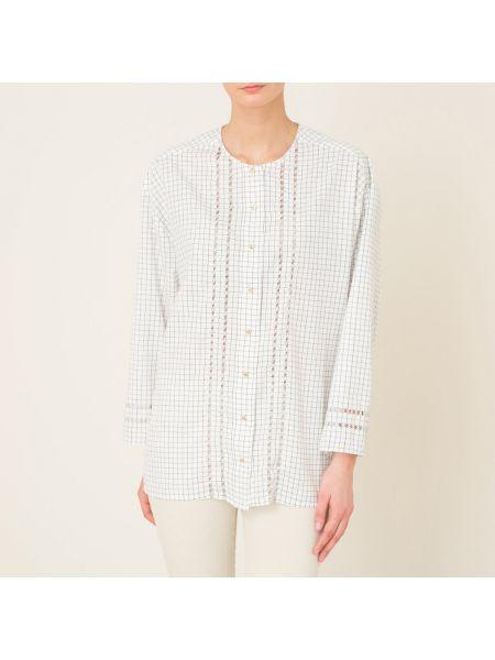 Хлопковая черная кружевная блузка с манжетами Laurence Bras