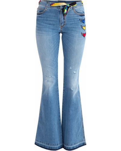 Расклешенные джинсы классические с аппликацией Ermanno Scervino