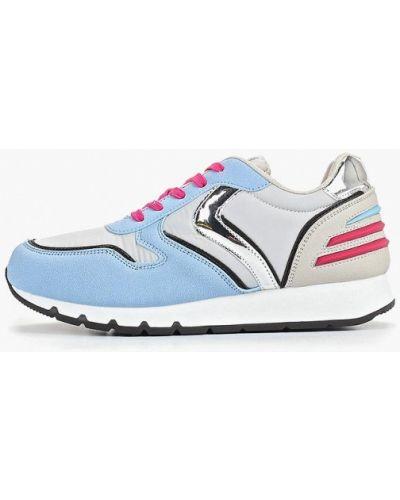 Кожаные кроссовки - голубые Dino Albat