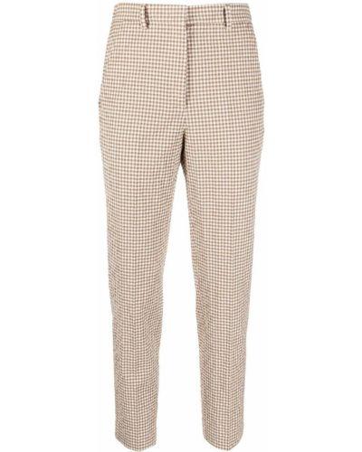 Хлопковые прямые белые брюки Incotex