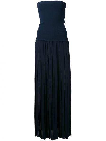 Niebieska sukienka z wiskozy Antonio Marras