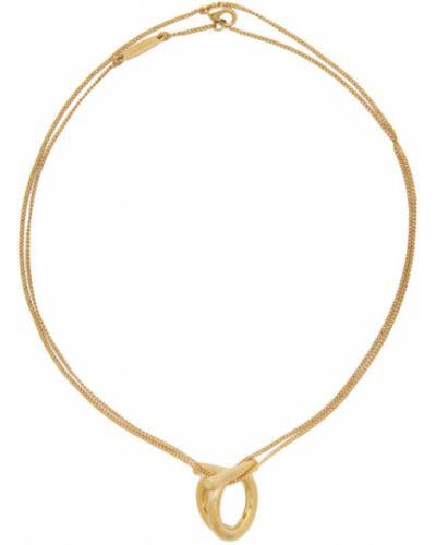 Wisiorka ze złota złoto z siatką Salvatore Ferragamo