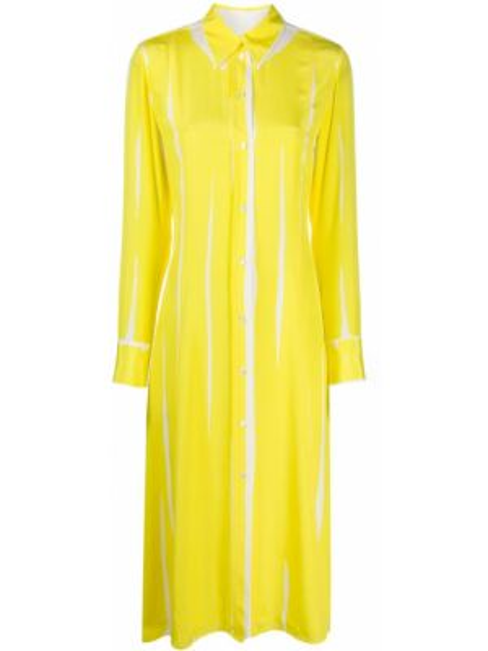 Платье миди с длинными рукавами - желтое Paul Smith