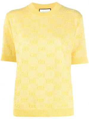 Top - żółta Gucci