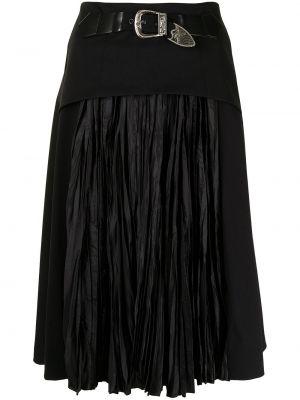 Черная плиссированная юбка Toga Pulla