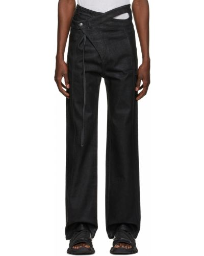 Czarne jeansy z paskiem Ottolinger