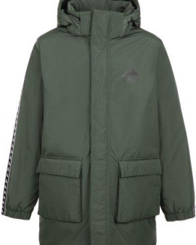 Спортивная теплая зеленая куртка на молнии Kappa