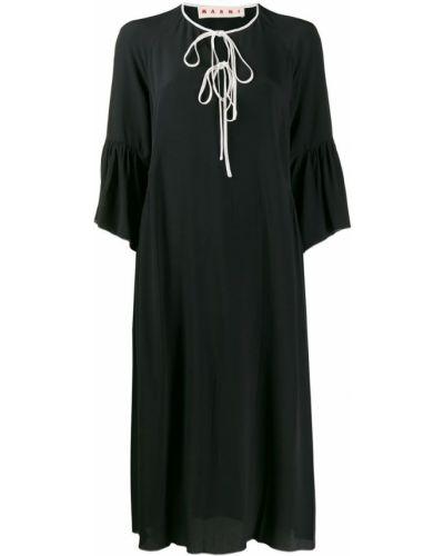 Платье миди с завышенной талией повседневное Marni