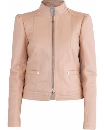 Кожаная куртка с принтом с карманами Patrizia Pepe