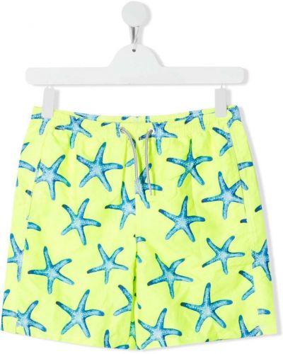 Желтые пляжные плавки-боксеры с карманами Mc2 Saint Barth Kids