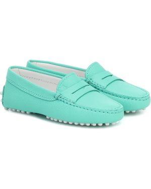 Zielone loafers skorzane Tod's Junior